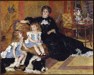 Portrait painting - Mme. Charpentier and her children, 1878, Metropolitan Museum of Art, New York