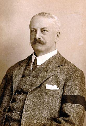 Black armband - Richard Norris Wolfenden wearing a black armband, c. 1905.