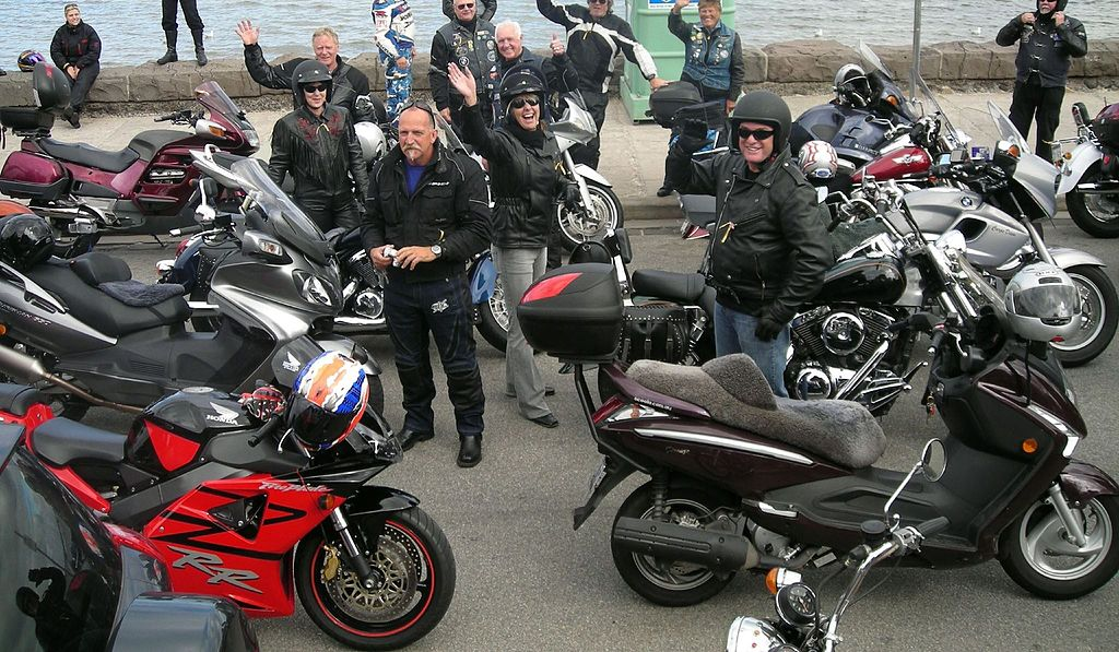 Ride for the Hills group of motorcyclists