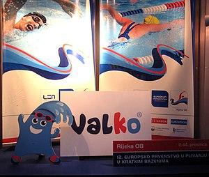 """2008 European Short Course Swimming Championships - Championship mascot """"Valko"""""""