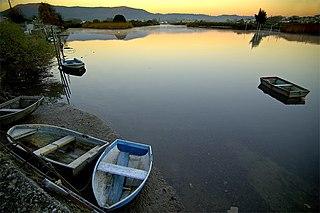 Bidasoa river in Spain