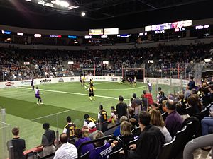 Hidalgo La Fiera - The Flash at the Dallas Sidekicks, November 30, 2012.