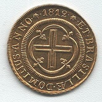 Brazilian real (old) - Image: Rio de Janeiro 4000 reis 1812 av