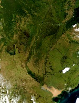 Río de la Plata Basin - Image: Rio de la Plata Cuenca