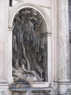 Fountains on the Quirinale side of the square:...