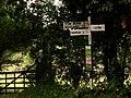 Road sign at Stow Bedon turn - geograph.org.uk - 569487.jpg