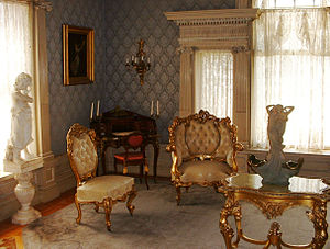 Binghamton, New York - Parlor room at the Roberson Mansion