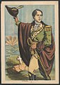 Robert Emmet, three-quarter length portrait, standing, turned to the left, facing slightly right, with right hand raised holding a hat, and left hand carrying a sword, there is a tombstone LCCN2014645191.jpg