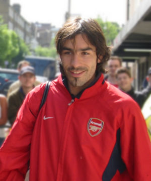 Arsenal player Robert Pirès