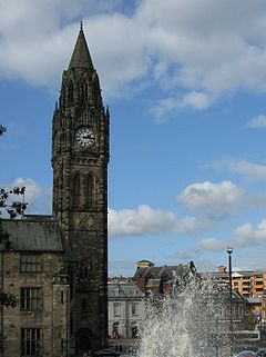 Rochdale Town Hall, tower.jpg