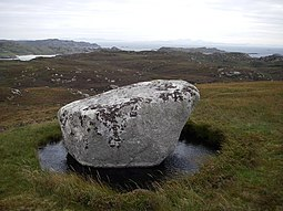 Rock near the summit of Cnoc Mor