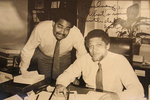 Rodney Ellis and Mickey Leland