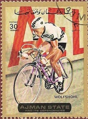 Rolf Wolfshohl - Wolfshohl on a 1972 UAE stamp