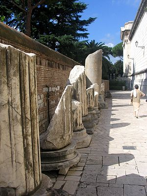 Roma - Basilica di San Paolo fuori le mura - resti