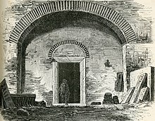 Interior picture of the catacomb of Saint Sebastian from 1894.