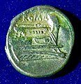 Roman Republic Semuncia 217-215 B.C. Anonymous. Bronze Coin. Reverse.jpg
