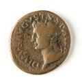 Romerskt bronsmynt med Tiberius, 16-22 - Skoklosters slott - 110685.tif