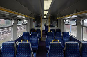 Standard class interior of National Express Ea...