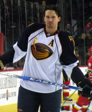 Ron Hainsey - Hainsey with Atlanta in 2009.