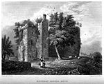 Drawing of Rothesay Castle, 1830