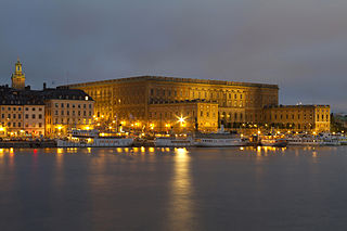 the official residence and major royal palace of the Swedish monarch