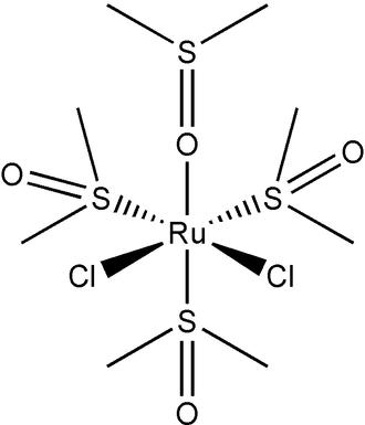 Dichlorotetrakis(dimethylsulfoxide)ruthenium(II) - Image: Ru Cl 2 dmso 4