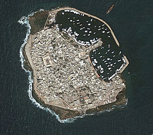 Arwad - Satellite image of Arwad