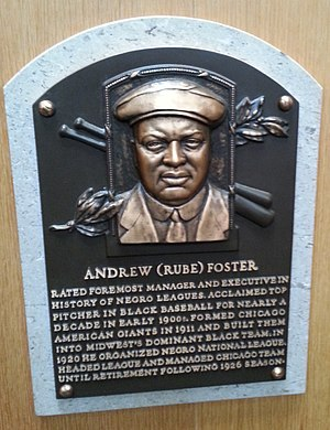 Rube Foster - Foster's plaque at the National Baseball Hall of Fame and Museum