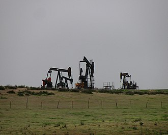 Russell Ranch Oil Field - Cluster of active oil wells in the Russell Ranch field, south of SR 166.