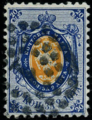 Russia 1858 second issue 20k used dotted cancel.png