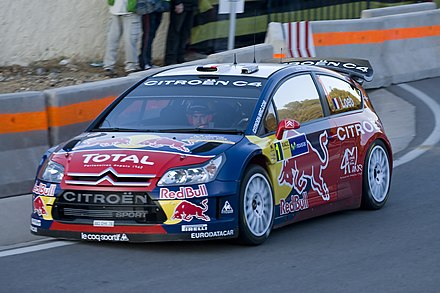 Sebastien Loeb during the Rally Catalunya 2008 with Citroen C4 WRC. Sebastien Loeb - 2008 Rally Catalunya.jpg