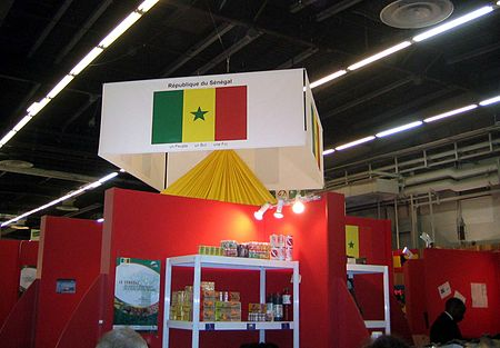Paris Salon international de l'Agriculture 2007: the government actively promotes agricultural exports to markets outside the developing world. SenegalParis.jpg