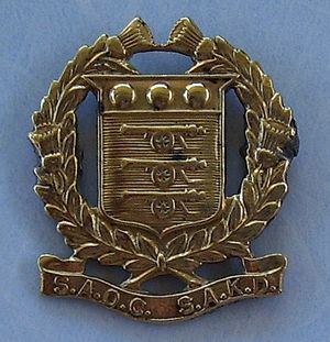 South African Ordnance Corps - SAOC badge (1933-1949)