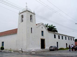 Colonial Brazil - 17th century-Jesuit church in São Pedro da Aldeia, near Rio de Janeiro.