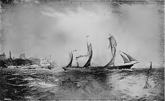Palmers Shipbuilding and Iron Company - SS ''John Bowes'' of 1852, the first iron screw collier