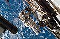 STS-118 EVA3 Rick Mastracchio on a CETA cart.jpg