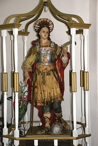 Vincenzo, Martyr of Craco - San Vincenzo processional statue in Craco, Italy