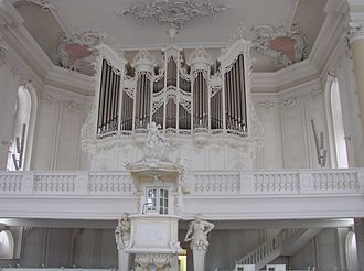 Ludwigskirche - Organ gallery and pulpit