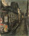 SaekiYūzō-1927-Posters at a Street Corner.png