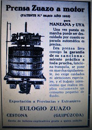 Basque cider - Image: Sagardoa, 1926. Euskal Herria