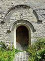 Saint-Clair-sur-Epte (95), église Notre-Dame, portail occidental.JPG