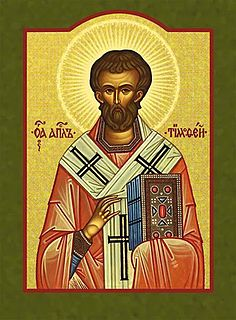 Saint Timothy Early Christian evangelist, philosopher and bishop from Roman Anatolia
