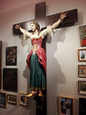 Wilgefortis - Saint Wilgefortis in the diocesan museum of Graz, Austria.