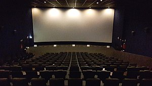 Auditorium - A typical movie theater auditorium