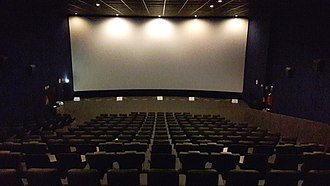 Projection screen - Projection screen in a movie theater