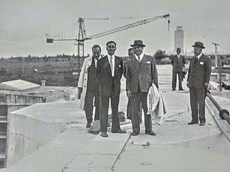 Samuel Goudsmit - Samuel Goudsmit and Wolfgang Pauli in Uruguay, 1942, Rio Negro Hydro site works, when the nazis german engineers were deported