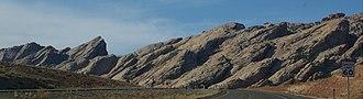 Interstate 70 in Utah - The San Rafael Reef as seen from I-70