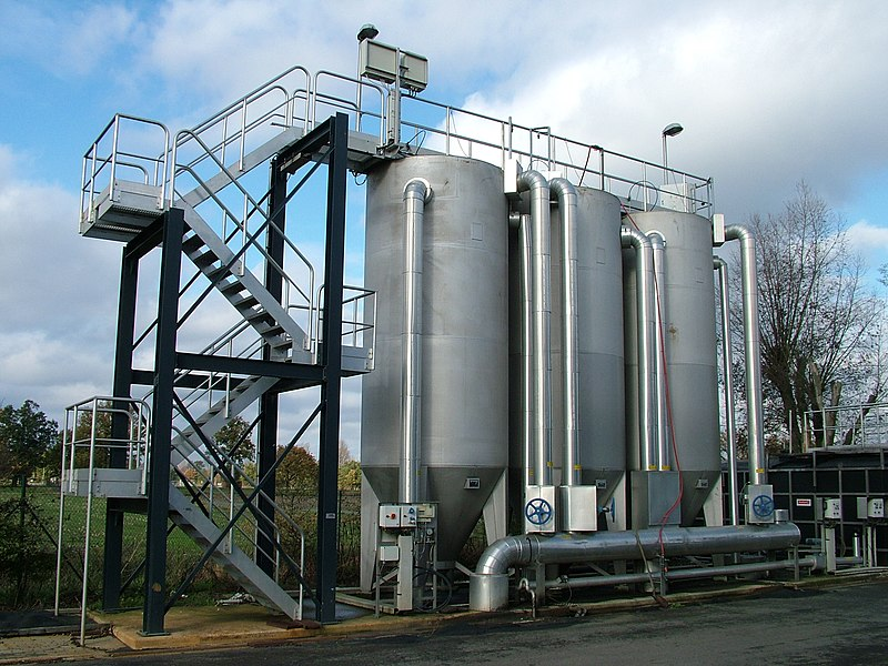 Sandfiltration (Dynasands) at WWTP Bree, Belgium