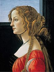 Profile portrait of a young woman, probably Simonetta