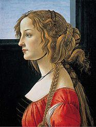 Retrato do perfil de jovem (Simonetta Vespucci?)